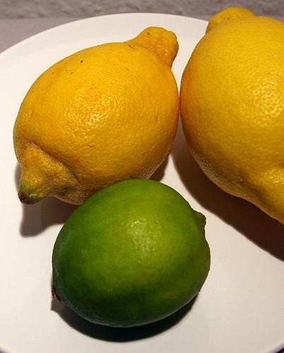 Limette und Zitrone