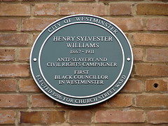 Photo of Henry Sylvester Williams green plaque