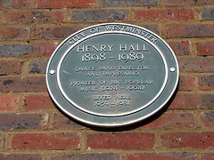 Photo of Henry Hall green plaque