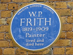 Photo of W. P. Frith blue plaque