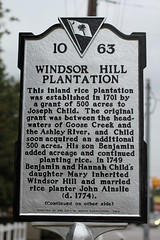 Windsor Hill Plantation Historical Marker - side 1
