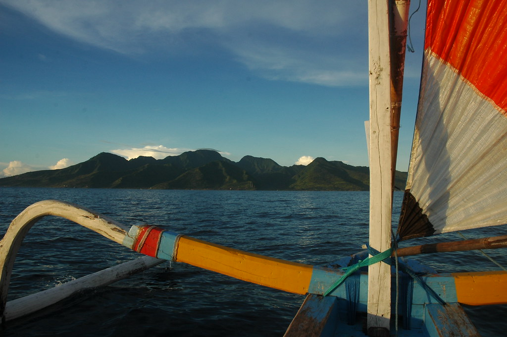 Early morning sail out from Amed, Bali
