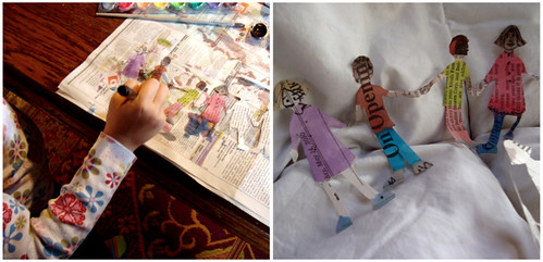 paper doll painting