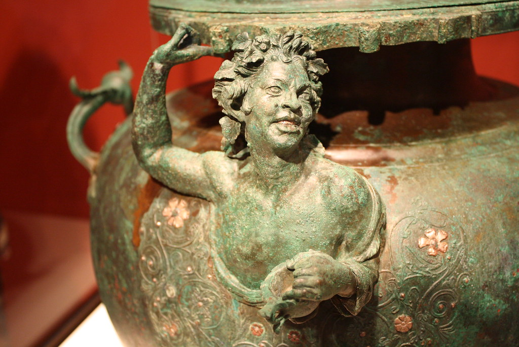 A Highly Important and Magnificent Late Hellenistic (Roman?) Bronze Lebes Inlaid with Silver, a Masterpiece of Ancient Metalworking, Unique Among Extant Ancient Vases
