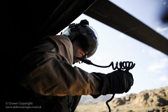 RAF Chinook Aircrewman (Defence Images) Tags: uk man male radio northafrica military free comms marrakech british defense defence communications raf aircrew personnel royalairforce aircrewman