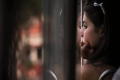 Day Dreaming (Federica Mu ) Tags: reflection bus window girl pessoa dof bokeh 85mm malta dreaming f28 cinematicmoments
