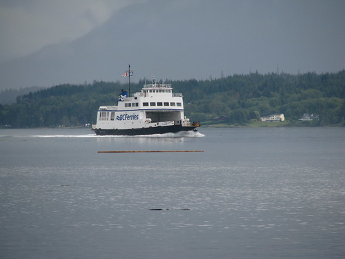 Ferry and log