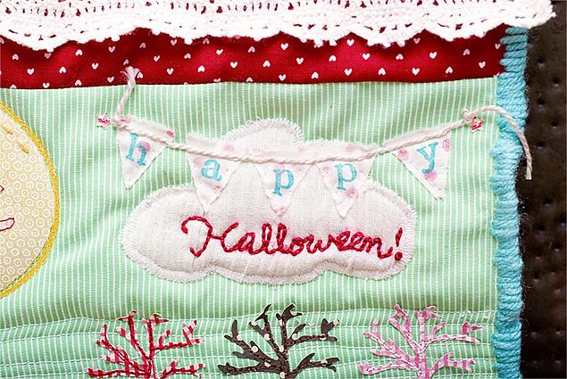Halloween wall quilt for Fiskars