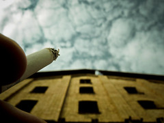 (green magnet school) Tags: himmel gras nil urbanexploring zigarette urbex ziegelei diefreudinmeinesfreundesgucktbseundhateinschwarzesgesicht urbanerverfall dasgefhlindenhimmelzugucken
