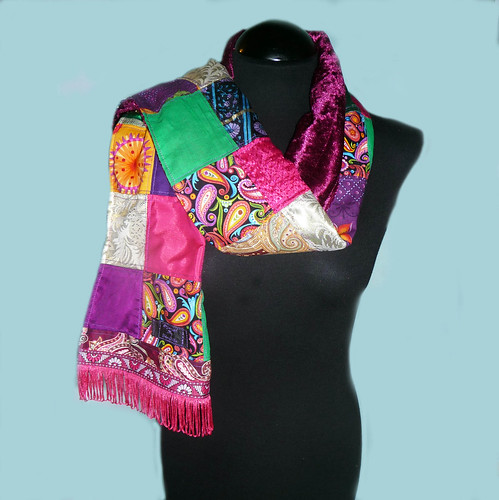 Bright Patchwork Scarf