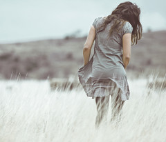 . (joannablu kitchener) Tags: cold girl grass countryside nikon dress windy australia faded tasmania bleak nikkor d90 dylank joannablu
