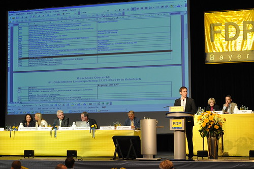 FDP Landesparteitag in Kulmbach 2010