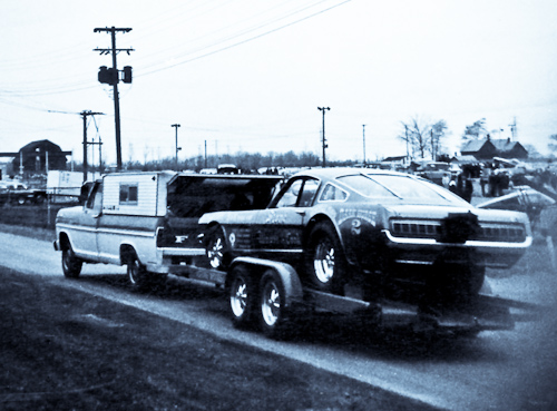 Stone, Woods and Cook Mustang funny car at Detroit Dragway