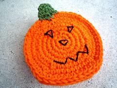 pumpkin coasters (MonikaDesign) Tags: thanksgiving autumn halloween kitchen festive pumpkin table natural handmade rustic crochet cotton gift etsy coaster homedecor coasters ecofriendly monikadesign pumpkincoasters