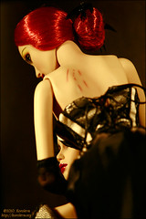 The Black Rose (Koroleva Irina) Tags: doll silk seville sybarite ooakfashion sybaritedoll lingeriefordoll sybaritegown