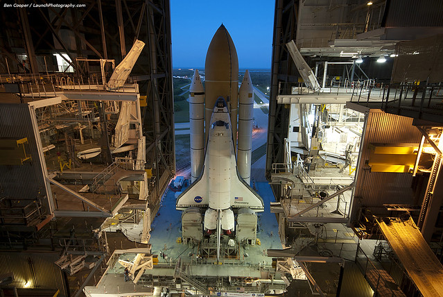 STS-133: Discovery rollout from VAB for final mission