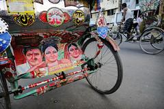 Street Art (Leonid Plotkin) Tags: streetart art asia dhaka rickshaw bangladesh cyclerickshaw bicyclerickshaw rickshawart