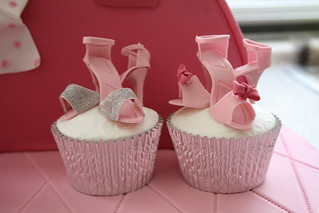 Shoe cupcakes by Cotton and Crumbs