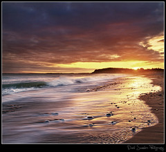 Lawrencetown Beach Sunset (Dave the Haligonian) Tags: ocean sunset summer sky cloud canada beach water canon novascotia wave atlantic adobe 7d halifax dartmouth lawrencetown img2825 cs5 copyrightallrightsreserved davidsaunders vertorama davethehaligonian lawrencetownbeachsunset