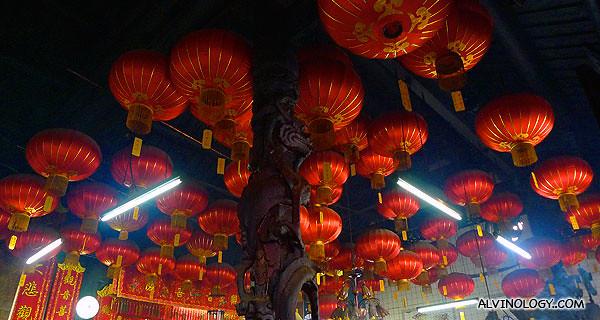 Tighter shot of the lanterns