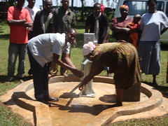 Water Flowing at Erechero Women Group during hand over ceremony