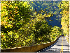A Scenic Drive In West Virginia (rcvernors) Tags: photoshopped hills westvirginia hillside allrightsreserved appalachianmountains earlyfall earlyautumn rt10 route10 rcvernors logancountywv rickchilders copyright2010 ascenicdriveinwestvirginia logancountywestvirginia