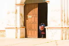 To church (Umbreen Hafeez) Tags: door woman church america market south sunday bolivia tarabuco
