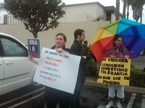 Pro-equality supporters in Santa Ana
