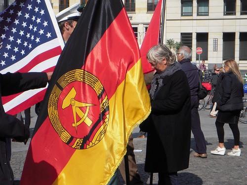 DDR Flag at Brandenburg Tor