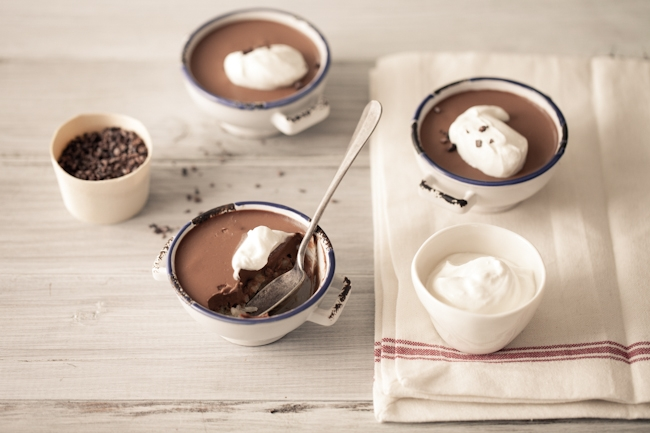 Vanilla Rice Pudding & Chocolate Panna Cotta