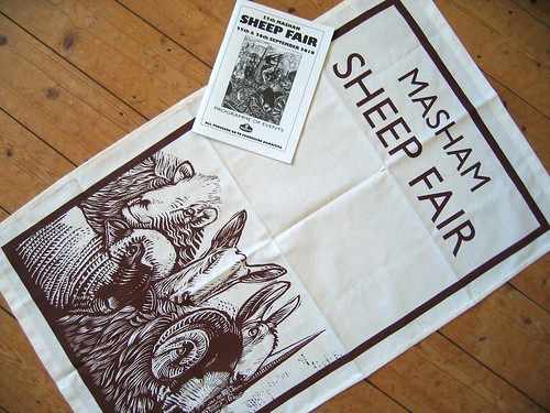 Masham Sheep Fair tea towel and programme