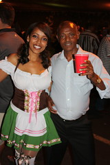 Eritrean Beauty and her Father (jayinvienna) Tags: dulles oktoberfest dirndl trachten germanbeernight germanbeernight2010