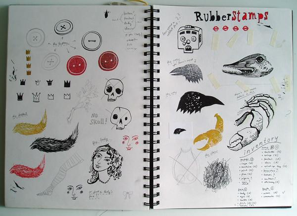 work in progress, sketchbook