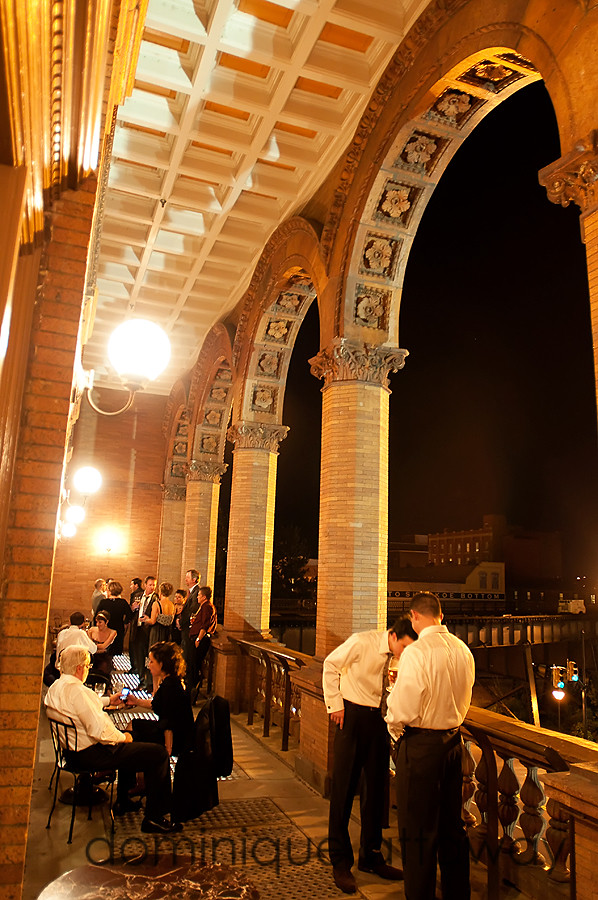 guests on patio of Main street station in Richmond