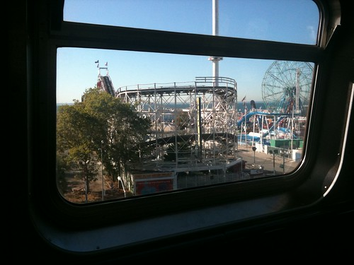 I always get a kick out of seeing Coney Island from the subway window