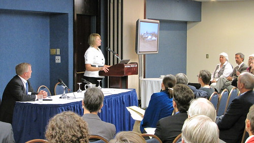 Ann Bartuska, Deputy Under Secretary for Research, Education, and Economics, addresses the symposium on sustainability.