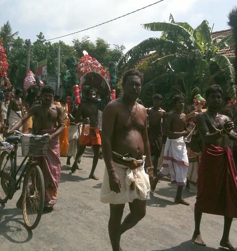 Devotees march to Murugan Temple, Jaffna