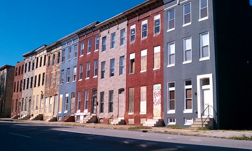 Baltimore Row Houses near Bond St