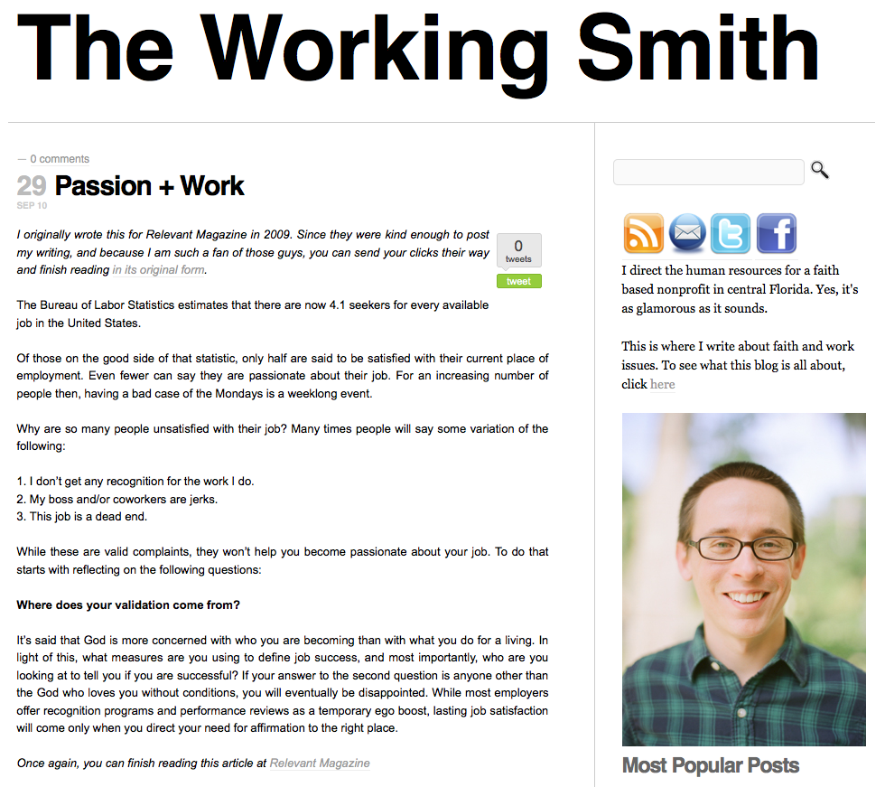 The Working Smith