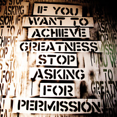 If You Want to Achieve Greatness Stop Asking for Permission, Plate 3 (Thomas Hawk) Tags: california usa graffiti oakland stencil unitedstates 10 unitedstatesofamerica fav20 eastbay eddie fav30 piedmontave piedmontavenue fav10 fav25 5733 fav40 superfave eddiecolla 5733grandopening