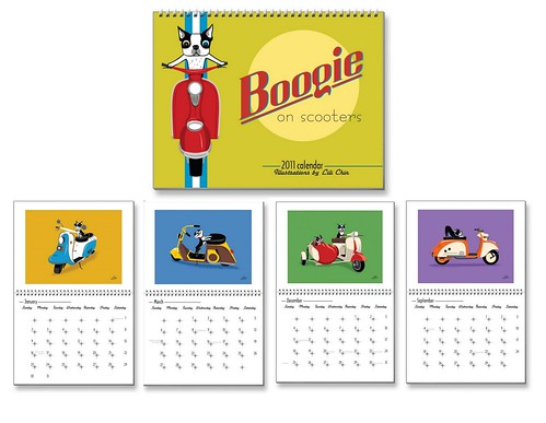Boogie On Scooters 2011 Calendar