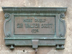 Photo of Walter Scott bronze plaque
