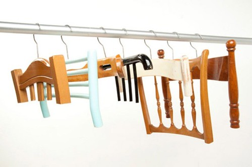 DIY hanger trashion wood chairs 3