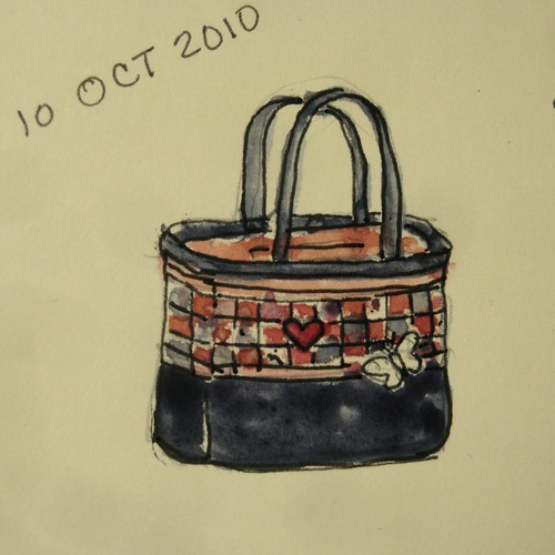 Red, White and Black Bag Sketch