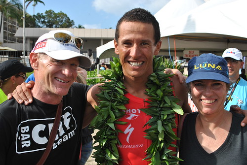 Gary, Kit & Chris McCormack - Ironman Kona
