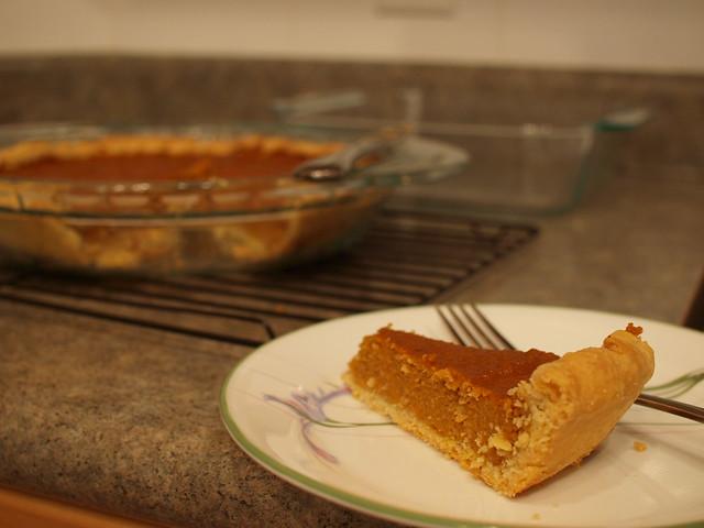 Calgary Alberta Homemade Pumpkin Pie With Crust