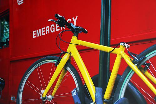 emergency and bike