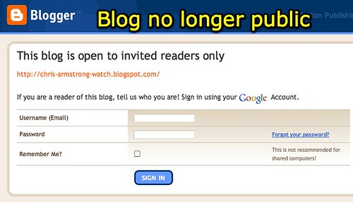 Blog no longer public