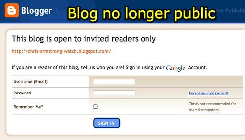 Blog no longer public
