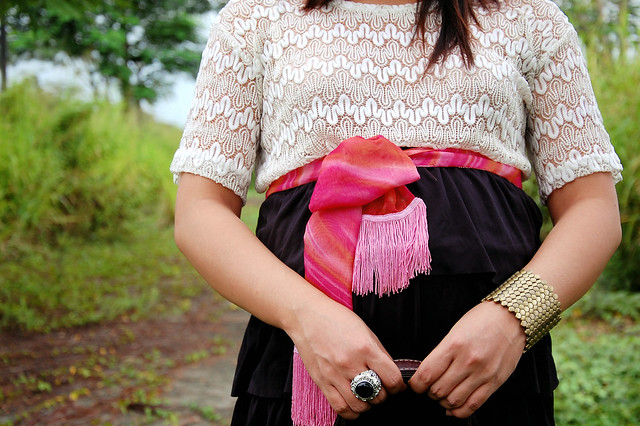 ruffle and pink belt
